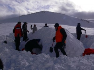 Outdoor Team Events im Winter
