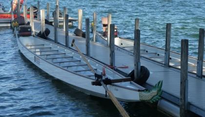Drachenbootrennen auf der Olympiaregattastrecke