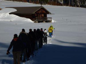 Teamtag im Schnee