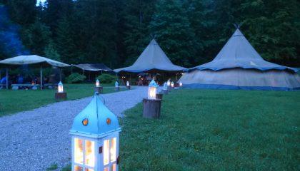 Alpen Barbecue workshop im Tipi-Dorf zwischen München und Garmisch Partenkirchen